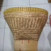 bakul nasi bambu motif (ukuran besar)