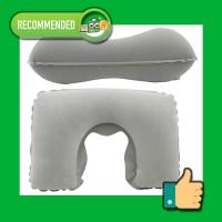 Travel Neck Inflateble Pillow Bantal Leher Tiup Anti Pegal