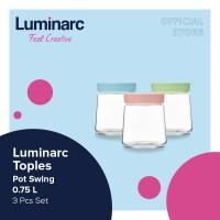Luminarc Toples Kue - Pot Swing 0.75L Set 3 pcs