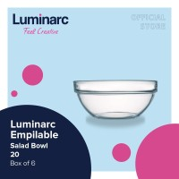 Luminarc Empilable - Salad Bowl 20 Box of 6