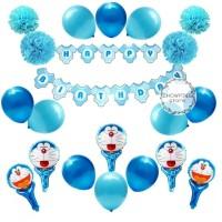 Paket Dekorasi Balon Ulang Tahun / Happy Birthday Karakter Doraemon 02