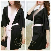 Lingerie Kimono Big Size Plus Size XL XXL XXXL Baju Tidur Piyama 142