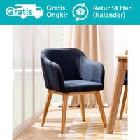 Fuji Kursi Makan Kayu Minimalis (Scandinavian Dining Chair)