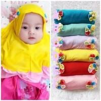 Kerudung SYIRIA 2 BUNGA SAMPING kerudung bayi jilbab bayi jilbab anak