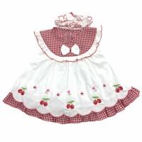 Baju Dress Bayi Perempuan Katun 6-8 Bulan Motif Gambar Berry
