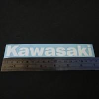 Cutting Sticker KAWASAKI 17cm Putih bahan Oracal