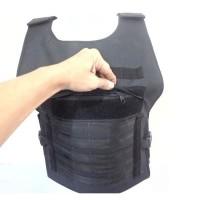 baju rompi anti peluru tactical slim dengan tebal plat baja 10mm
