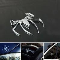 Stiker sticker emblem spiderman Edition 3D Warna Metal motor mobil