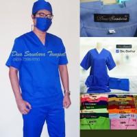 Baju Jaga - Baju ruang OK - Scrub Suit - Bahan Tebal Merk Dua Saudara