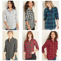 [CA] Kemeja Wanita Branded - OLD N4VY Tunic Shirt