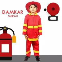 Baju Seragam Profesi Anak Pemadam Kostum Setelan Damkar Cowok