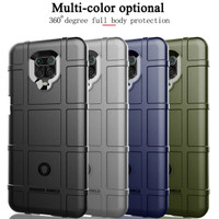 Case Xiaomi Redmi Note 9 Pro Rugged Shield Shockproof Back Cover - Hitam