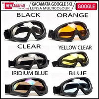Kacamata Google SKI Tactical Sepeda Motor Pelindung Mata Lensa googles