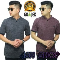 Polo Shirt Pria Kaos Kerah Shanghai Cowok Slimfit Impor Import AS-14