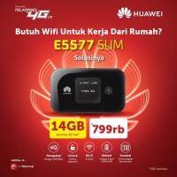 Mifi Modem Wifi Router 4G Huawei E5577 Slim Telkomsel Unlock Free 14Gb