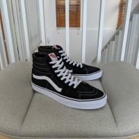 sepatu Vans Sk8 High Black White original