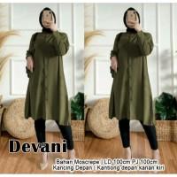Devani Tunik Army [Gamis 0152] TGW Baju Gamis Wanita Terbaru