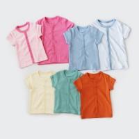 I am Cotton Baju Bayi Pendek Kancing Depan