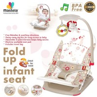 MASTELA Infant Seat with Hanger Toy and Travelbag, CREAM - MOUSE-07217