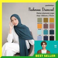 HIJAB PASHMINA - PASHMINA DIAMOND - BAHAN DIAMOND CREPE PREMIUM