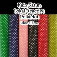 Kain katun halus cotton reactive motif polkadot bahan meteran