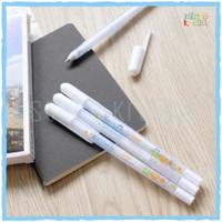 White Gel Ink Pen   Pulpen Gel Tinta Warna Putih