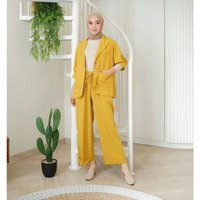 ANDREA SET/setelan wanita/blazer+pants/termurah/terlaris