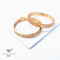 Gelang Cartier Bangle Emas Perhiasan Lapis Emas 18K Yaxiya Jewelry 628