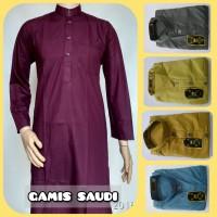 Baju Gamis Pria Jubah Saudi Gamis Polos Slimfit Baju Koko Pria Trendy