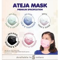 Ateja Mask Masker Kain 3 Ply Dewasa & Anak (1 box Isi 5 buah masker)