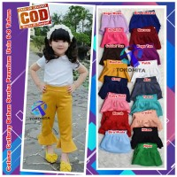 Size L Celana Scuba Polos Modis Anak Perempuan Model Terompet Cutbray
