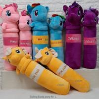 Boneka Bantal Guling Kuda Pony Animasi L Pinkie Pip Rainbow Dase Twi