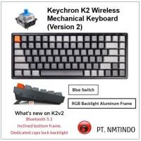 Keychron K2 version 2 Blue Switch RGB Backlight Aluminum Frame