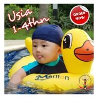 BAN RENANG BAYI MODEL CELANA BEBEK MERITON BABY FLOAT DUCKIES 1+