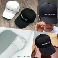 Topi baseball Balenciaga rafel tebal high quality unisex cap fabric