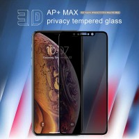 IPHONE XS MAX 6.5 TEMPERED GLASS NILLKIN 3D AP+MAX SPY PRIVACY COVER