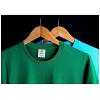 Kaos Polos Y&S EcoSoft Cotton Combed 30s Built Up, Merah, M