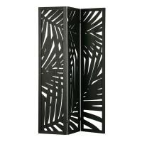 Pembatas Ruangan Sekat Lipat - Folding Screen Palm Leaves Harper Type