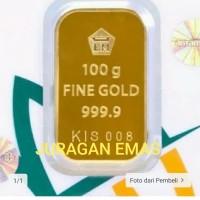 100 GR (GRAM) PRESS HIJAU LOGAM MULIA/LM/EMAS BATANGAN ANTAM