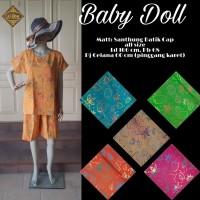 Baby Doll Batik Cap/ Baju Tidur Setelan Celana Pendek