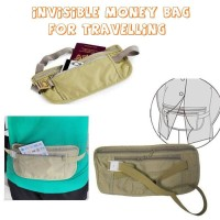 TN002 Tas Pinggang Kain Tipis Invisible Money Pouch Bag for Travelling