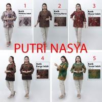 Atasan Batik Jumbo Wanita / Blus Jumbo / Big Size Seragam Batik Wanita - S, no.1