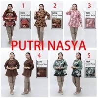 Blouse Jumbo Batik / Atasan Wanita Jumbo Batik Size Seragam Big size - S, no.1