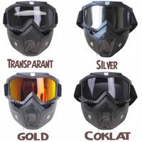 Kacamata Google Helm Masker Motor - Set Paint - Transparant