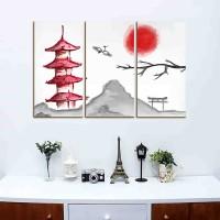 Hiasan Dinding Lukisan Jepang bunga sakura japanese art / wall decor