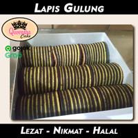 Kue Lapis Gulung Coklat Roll cake lapis