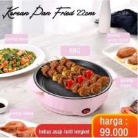 Korean Pan Fried 22cm Multifungsi Panci BBQ Grill Electric Baking Tray