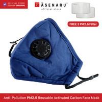 Masker Kain Respirator 4 ply Filter Karbon PM 2.5 Debu Polusi Asenaru