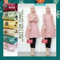 TUNIK BUTTON Atasan wanita Baju Tunik murah fashion muslim
