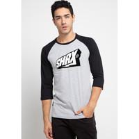 Sharks - Typo Reglan T-shirt - Abu-abu [SGB311875520]